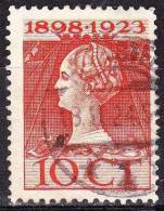 1923 Jubileumzegel 35 Cent Oranjegeel NVPH 124 C Met Romeins Langebalkstempel HEEMSTEDE 1 - Poststempels/ Marcofilie