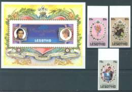 LESOTHO - 1981 - MNH/*** LUXE -  WEDDING DIANA CHARLES - Mi 344-346 - Lot 7204 UNPERF. !!! - Lesotho (1966-...)