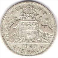 Australia 1947 Florin - Monnaie Pré-décimale (1910-1965)