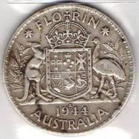 Australia 1944s Florin - Monnaie Pré-décimale (1910-1965)