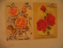 EL- LAURIE BOUTIQUE ...BONNE FETE DES MERES...2 CARTES ROSES. - Mother's Day