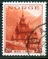 Norwegen  1938  Fremdenverkehr - Stabkirche  (1 Gest. (used))  Mi: 196 (1,00 EUR) - Norvège