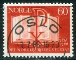 Norwegen  1966  150 Jahre Norwegische Bibelgesellschaft  (1 Gest. (used))  Mi: 541 (0,40 EUR) - Gebraucht