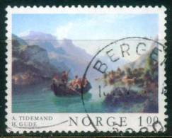 Norwegen  1974  Gemälde - Bootsfähre Am Hardangerfjord  (1 Gest. (used))  Mi: 681 (0,40 EUR) - Norvège