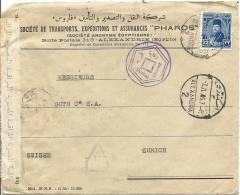 1945 Zensurbrief Von Alexandria Nach Zürich - Égypte