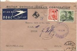 1951Taxbrief Nach Zürich - Égypte