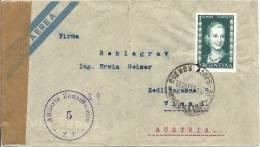 1952 Zensurbrief Von Bunes Aires Nach Wien - Argentine