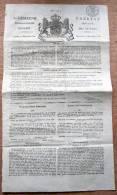 """Journal / Krant """"Algemene Nederlandsche Courant / Gazette Générale Pays-Bas, 1818 Bruxelles - Collections"""