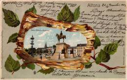 ALTONA : GRUSS Aus... - CARTE POSTALE LITHOGRAPHIÉE Et GAUFRÉE VOYAGÉE En 1904 (n-051) - Altona