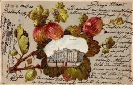 ALTONA : GRUSS Aus... - CARTE POSTALE LITHOGRAPHIÉE Et GAUFRÉE VOYAGÉE En 1904 (n-052) - Altona