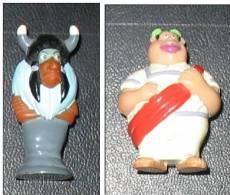 2 Figurines Asterix En Amérique Kinder - Astérix & Obélix