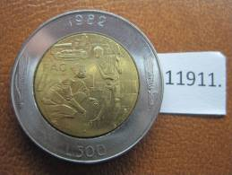 San Marino 500 Liras 1982  FAO , Bimetalica - San Marino