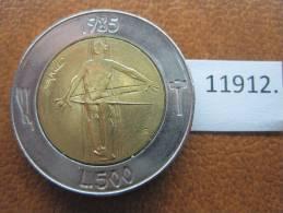 San Marino 500 Liras 1985 , Bimetalica - San Marino