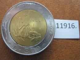 San Marino 500 Liras 1989 , Bimetalica - San Marino