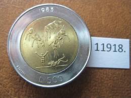 San Marino 500 Liras 1983 , Bimetalica - San Marino