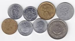 @Y@   Lot Wereldmunten Veel UNC  (4) - Monedas & Billetes