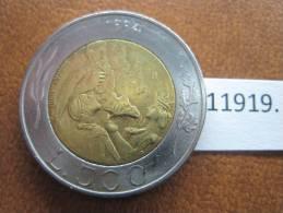 San Marino 500 Liras 1994 , Bimetalica - San Marino