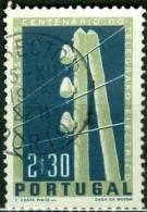 PORTOGALLO, PORTUGAL, CENTENARIO TELEGRAFO, 1955, FRANCOBOLLO USATO, Scott 815, YT 828, Afi 817 - Usati