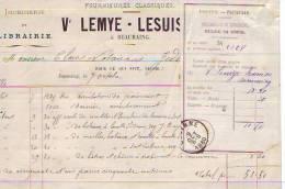 Beauraing - 1880 - Imprimerie De Lemye-Lesuisse + Déclaration De Versement - Printing & Stationeries