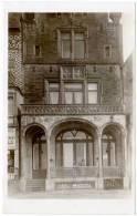 """Carte-photo Belgique, Vieille Maison : Panneau En Bas, Marqué """"Vieux Louvain"""" ?, Panneau à Gauche Signé P.Simon, Liège - Belgique"""