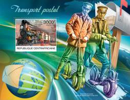 CENTRAL AFRICA 2012 - Postal Transport S/S Official Issue - Motos