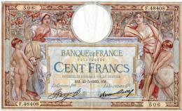 BILLET DE LA BANQUE DE FRANCE LE 100 FR MERSON 1935 - 1871-1952 Anciens Francs Circulés Au XXème
