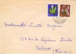 Lettre De Geneve  Nations Unies Avec N°YT  671 Et 672 - Briefe U. Dokumente