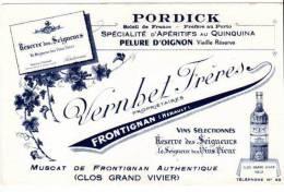 Buvard Pordick, Apéritifs Quinquina, Vernhet Frères, Frontignan - Liqueur & Bière