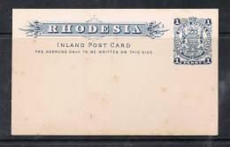 RHODESIE DU SUD ENTIER POSTAL NEUF  RARE - Southern Rhodesia (...-1964)