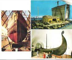 3 AK Set - Norge - Norway - Fram Museum - Viking Ship Museum - Kon Tiki Museum - Schiff - Norwegen