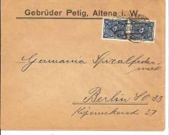 INF016a / Paar Michel 228II Auf Firmenunschlag Aus Altena I. W. 23.11.22 - Briefe U. Dokumente
