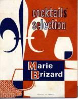 """CARTONNETTE PUBLICITE """" COCKTAILS SELECTION MARIE BRIZARD  """" - Advertising"""