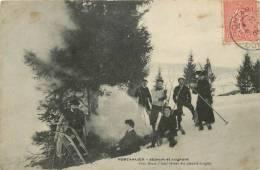 Réf : A -13- 501 : Pontarlier Skieurs Et Lugeurs - Pontarlier