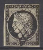 France  N° 3 Oblitéré ° - 1849-1850 Cérès