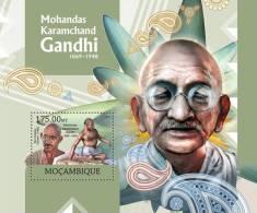 MOZAMBIQUE 2012 - Mohandas Karamchand Gandhi S/S. Official Issue - Mahatma Gandhi