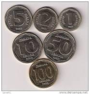 Yugoslavia Coin Set 1993.UNC/AUNC  1,2,5,10,50 And 100 Dinara - Yugoslavia