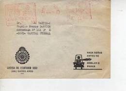 ARGENTINA   SOBRE  CARTA CIRCULADA AUTOMOVIL CLUB ARGENTINO  OHL - Storia Postale