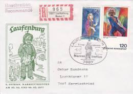 LETTRE RECOM BUND 1977, Mi 823.911 MiF, LAUFENBURG /2736 - [7] República Federal
