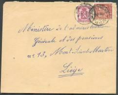 N°479-762 - 1Fr.35 Exportation + 40 Centimes Lion  Obl. Sc HUCCORGNE Sur Lettre Du 2-02-1949 Vers Liège - 8474 - 1948 Export