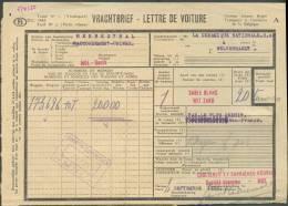Lettre De Voiture De MOL, Obl. Ferroviaire Vicinale BUURTSPOORWEGEN 2 Septembre 1950/MOL + Cachet Ferroviaire De MOL 2-I - Railway
