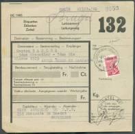 CP N°204(½) Obl. Sc Agence De SCHAERBEEK 12 * S/bulletin D´expédition D´un Colis Militaire Du 4-11-1936 Pour L´armée Bel - Railway