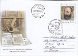 Moldova  Moldavie  Moldawien Moldau  2012. Boleslav  Hajdeu. Writer. Folklorist. Naturalist. Used Pre-paid Envelope. FDC - Moldova
