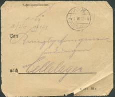 ABFERTIGUNGSBEAMTER Obl; Dc  ATH 5-7-1916 Vers Cellelager - 8486 - WW I