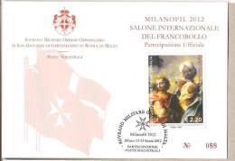 SMOM - Cartolina Con Annullo Speciale: Partecipazione A Milanofil 2012 - 23.03.2012 - Malte (Ordre De)