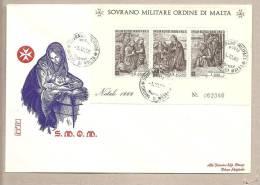 SMOM - Busta FDC Con Foglietto: Natale 1969 - BF2 - Malte (Ordre De)