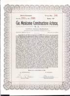 O) 1949 MEXICO, TWENTY STOCK, CIA MEXICANA CONSTRUCTORA AZTECA S.A, - Shareholdings