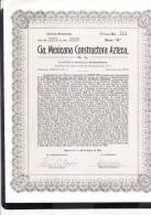O) 1949 MEXICO, TWENTY STOCK- Nº111, CIA MEXICANA CONSTRUCTORA AZTECA S.A,- - Shareholdings