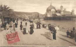 NICE..LA JETEE-PROMENADE ET PROMENADE DES ANGLAIS...LL...1907 - Transport Maritime - Port