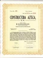 O) 1962 MEXICO, STOCK TWENTY, CONSTRUCTORA AZTECA S.A. - Shareholdings