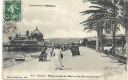 91..NICE...PROMENADE DU MIDI ET JETEE-PROMENADE..1908...ETRANGE PERSONNE.... - Parcs Et Jardins